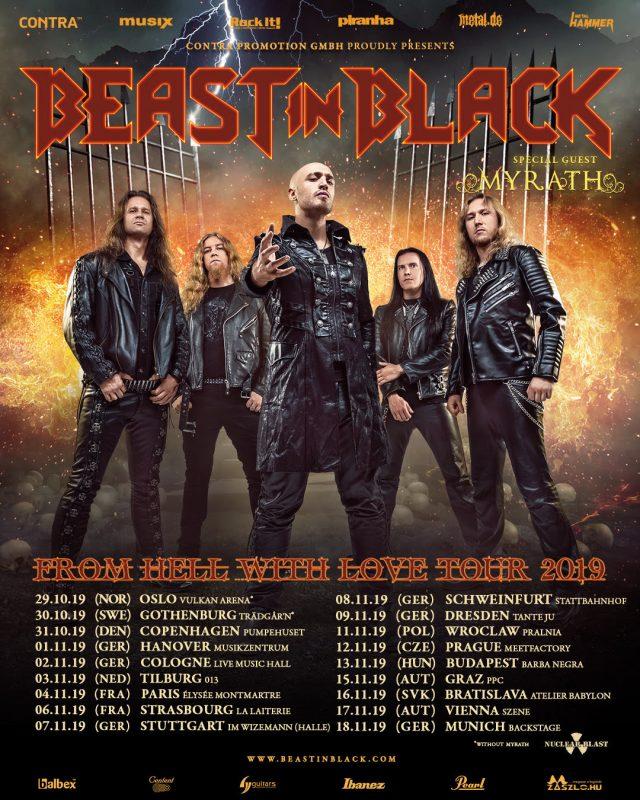 Beast In Black & Myrath Announce Tour Dates